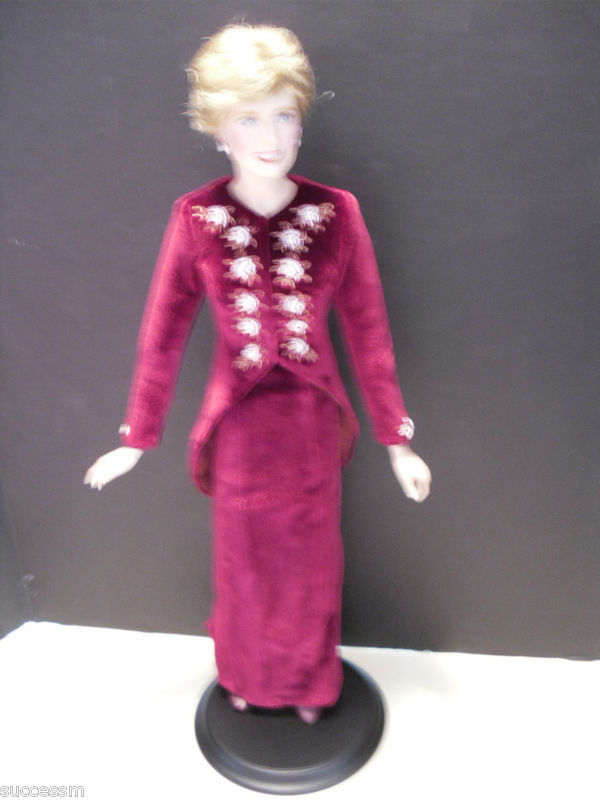 Franklin Mint Princess Diana Doll Loveliness Certificate of Authenticity