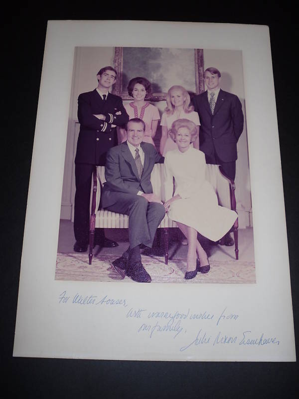 Julie Nixon Eisenhower Autograph Family Christmas Card