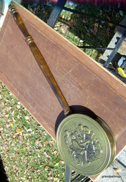 Vintage Brass Fireplace Match Holder/Wall Decor/Made in England