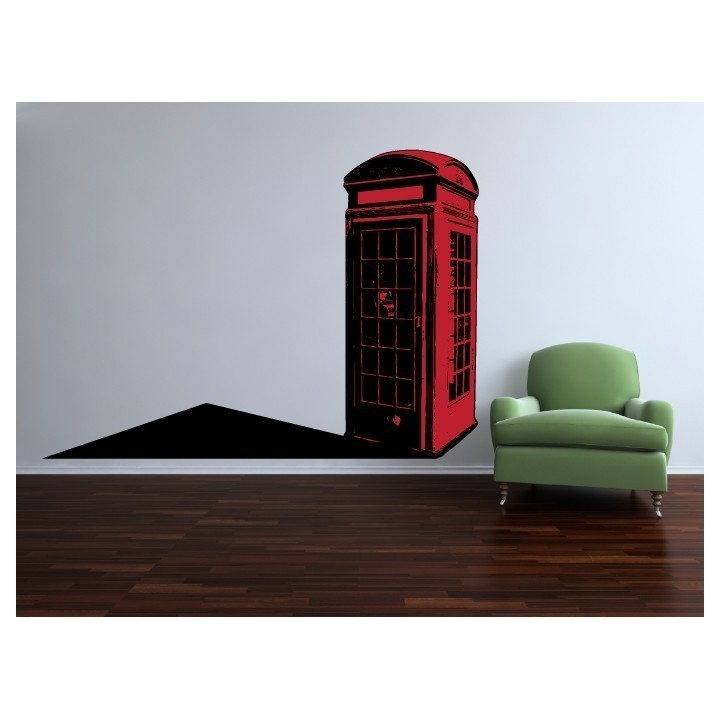 British Phone Booth Large Vinyl Wall Decal