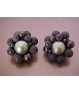 FREEBIE Vintage JAPAN Brown Matte & Gold Bead E... - $0.00