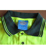 Golf Shirt Mens M Microfibre Polo Neon DayGlo S... - $8.23