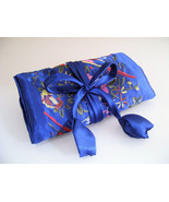Silk Jewelry Roll Makeup Brush Accessories Case... - $10.00