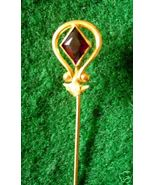 BEAUTIFUL VINTAGE AMETHYST & SEED PEARL STICK PIN - $79.76