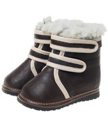 Toddler Brown Winter Sherpa Lined Squeaky Boots size 6 sheepskin Boy or Girl