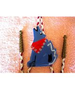 DESERT SINGING COYOTE W RED SCARF, BOLO TIE, W ... - $26.40