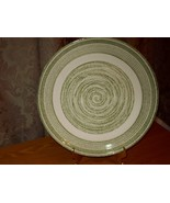 El Verde Casual Ironstone Dinner Plate USA Green and White - $9.99
