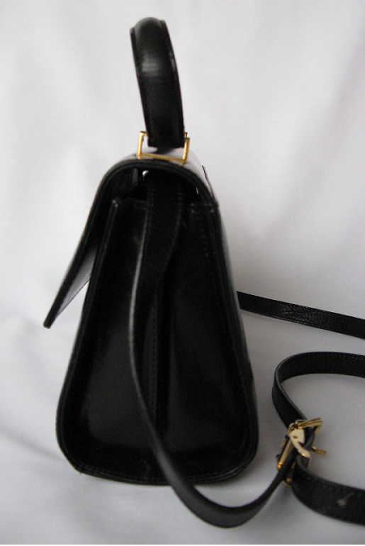 St_john_leather_handbag_purse_bag_black