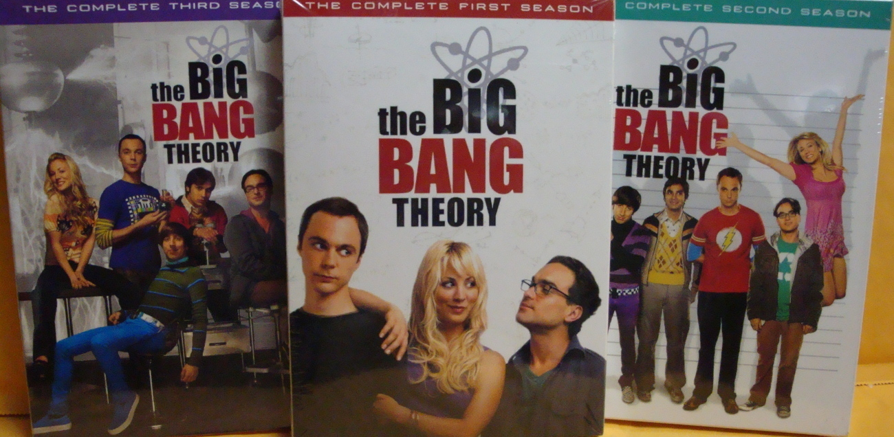 Big Bang Theory The Complete Seasons 1 2,3 2009 DVDs Guarant