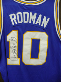 Signed Rodman Dennis Authentic Savages Jersey