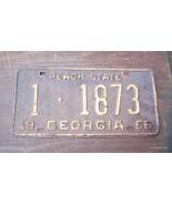 Vintage 1966 Georgia License Plate Peach State ... - $35.00
