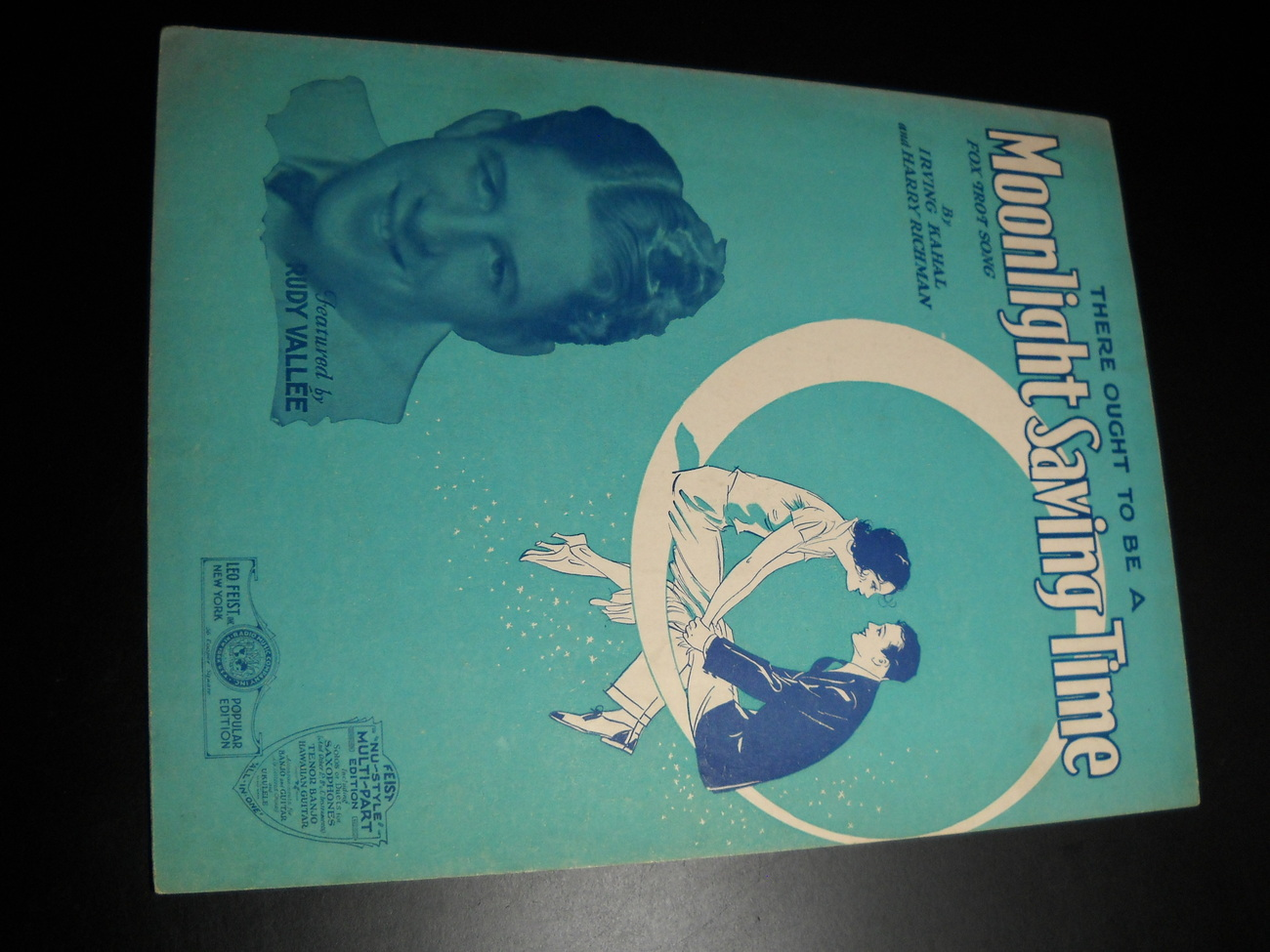 Sheet Music There Ought to Be A Moonlight Saving Time Rudy Vallee Irving 1931