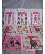 8 McCalls Sewing Patterns Girls Sz 2 to 6 Dress... - $13.49