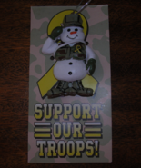 Support Our Troops Snowman Ornament New  - $4.95