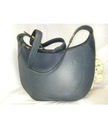 Valentino Garavani Navy Blue Leather Shoulder Bag 