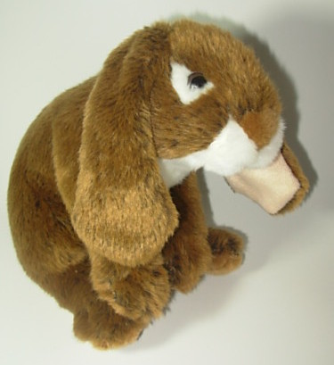 Animal Alley Floppy Ear Bunny Rabbit Brown White Plush
