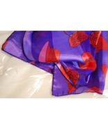 Scarf - Red Hat Print- Purple  - $12.95