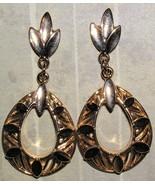 Gold Fashion Sculpted Teardrop Stud Earrings (p... - $4.00