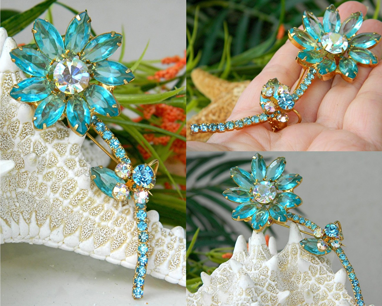 Vintage_juliana_rhinestone_long_stem_flower_pin_brooch_aqua