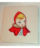 Little Red Riding Hood Ceramic Kitchen Tile
