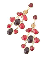 Stunning Burgundy / Brown Jeweled Link Chandeli... - $20.00