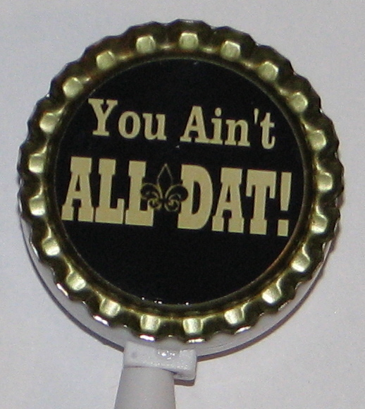 New Orleans Saints 2-8 retractable id badge holder