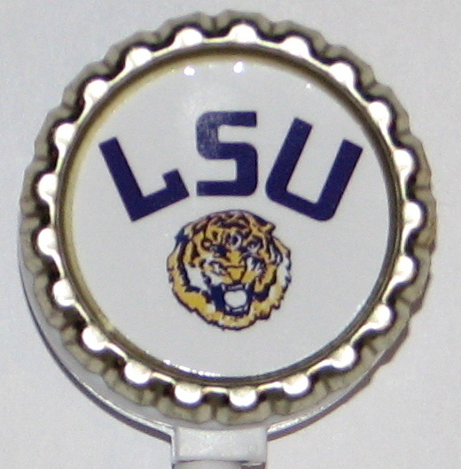 LSU tigers qt 3  retractable id badge holder