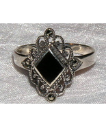 Sterling Silver and Black Onyx Ring size 7 - $15.00