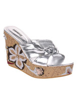 Women's Silver Lolita Wedges - $32.00