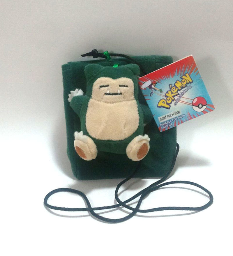 "Pokemon OOP ""Snorlax"" Plush & Pouch Clip * NEW!  * Anime"