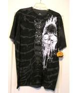 NWT! Lg Unisex Charcoal T-Shirt Melting Skull S... - $19.99