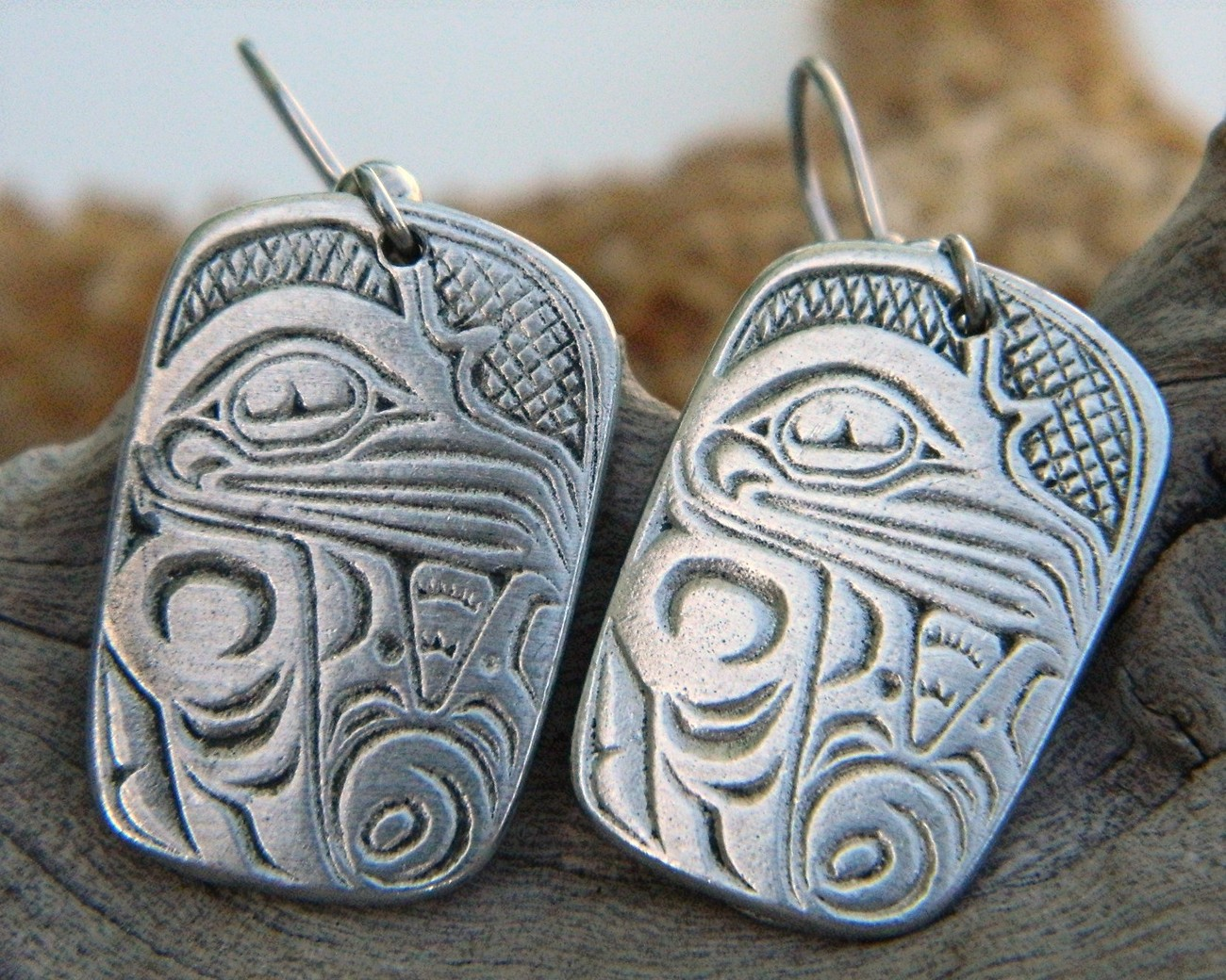 Vintage_eagle_aztec_bird_cuauhtli_tribal_pewter_earrings