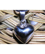 STERLING SILVER PUFFED HEART PENDANT - $8.00