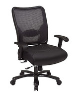 Executive Air Grid Back Leather Seat Big Tall ... - $479.99