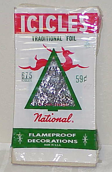 Vintage christmas tree tinsel traditional foil nos other