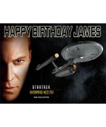 Captain Kirk  Custom Cake  Frosting Sheet - $7.99