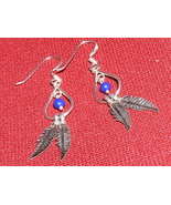 Feathered Sterling Silver Dangle Earrings - $4.00