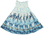Buy Hawaiian Fashion Hula Skirt Blue Oahu Palms of Diamond Head