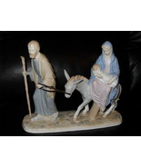 Mother Mary Riding Donkey With Baby Jesus Porce... - $89.99