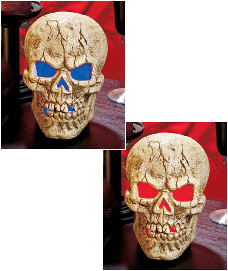 Image 2 of LED Lighted Color-Changing Skull Centerpiece