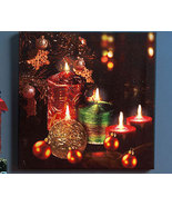 Holiday Twinkling LED Canvas Wall Art - $17.95