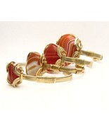 Wire Wrap Red/White Sardonyx Sterling Silver/14... - $250.00