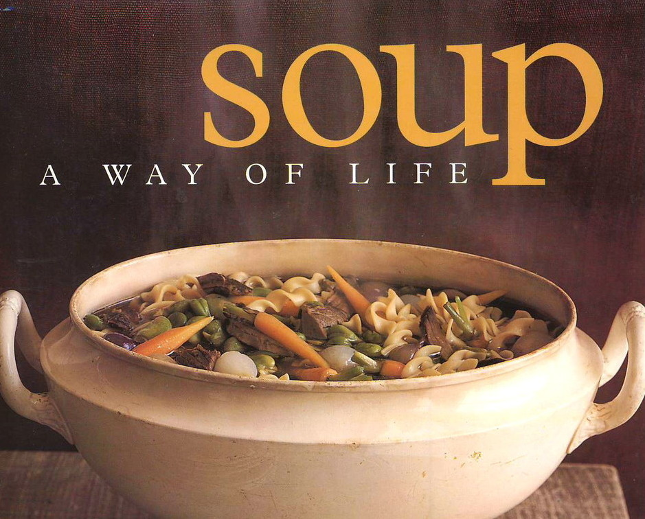 Soup: A Way of Life Cookbook, Barbara Kafka Plus dumplings,piroshki, - HEAVY