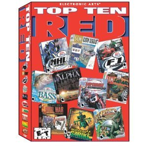 TOP TEN (10) RED-PC 10 Games Cdroms Pack Win98/95 rare 2002 usa BOX NEW