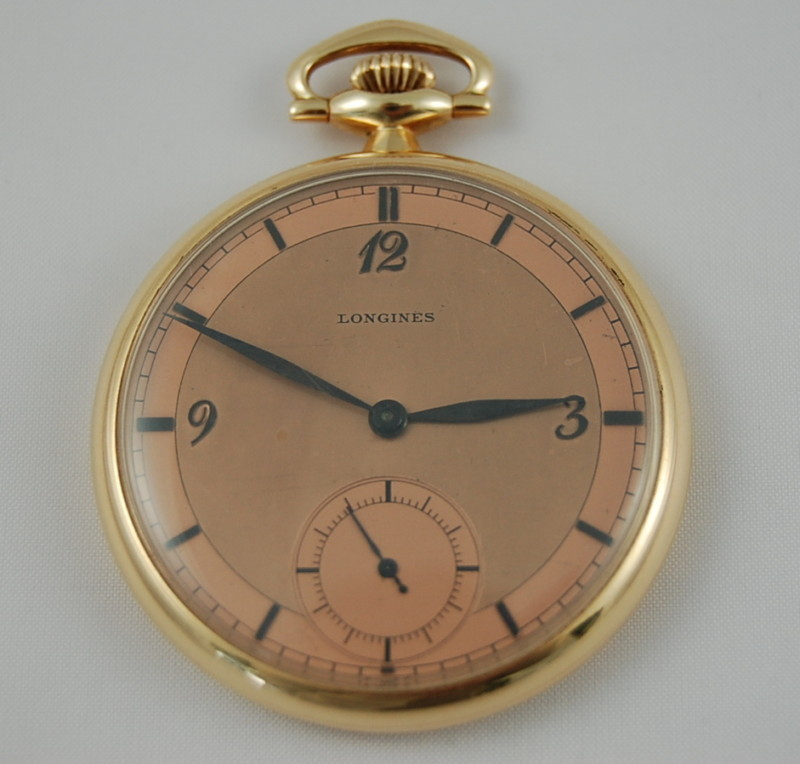 Antique Longines Pocket Watch With Subdial Second Hand