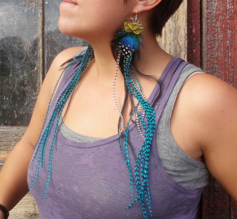 DREAMING Extra Long Feather Earrings