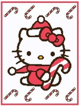 Hello Kitty and Canes Crochet Graph Afghan Pattern - $4.00