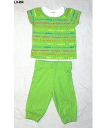 Garanimals Sz 4T 2 pc Lime Green top and Capris - $8.99