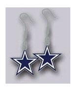 Dallas Cowboys Licensed Nfl Logo Hook Earrings - $13.00