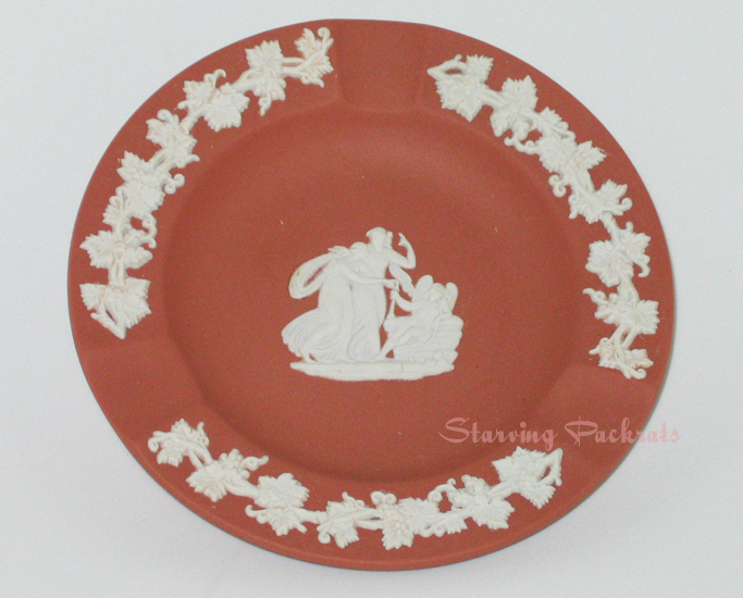 Terra Cotta Wedgwood Jasperware Round Ashtray